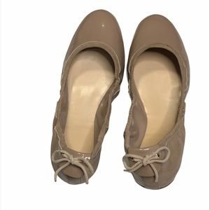 Cole Haan Ashlyn Patent Back Bow Ballet Flat Shoes